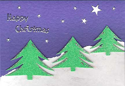Homemade christmas greeting card