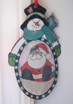 Christmas ornament card 2