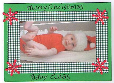 Baby Elias Christmas Photo Card