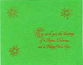 embossed christmas greetings