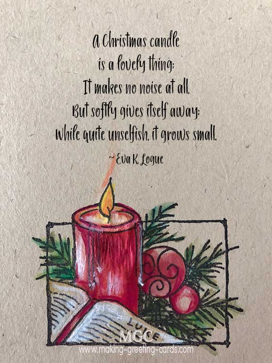 Christmas Quote - A Christmas Candle