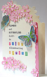 color of spring card