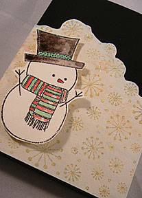 Box Wrapped and Decorated with a Snowman