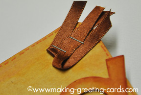 stapled ribbon on cricut card/Stapled Ribbon