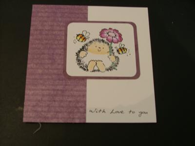 Cute Hedgehog Card