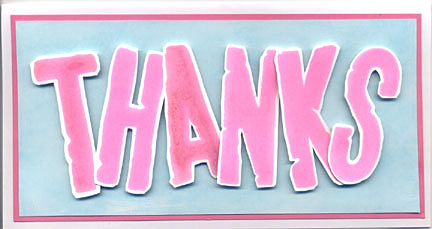 thanks card/Cutout Thanks Card