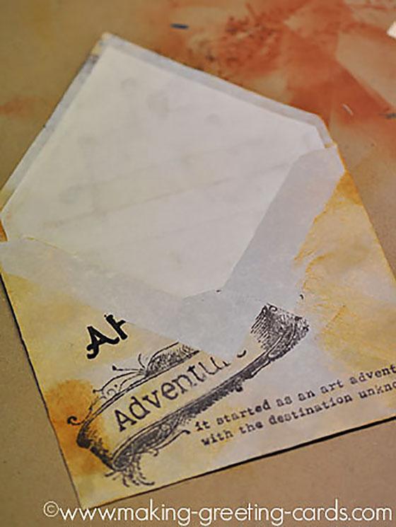 decorated envelope back