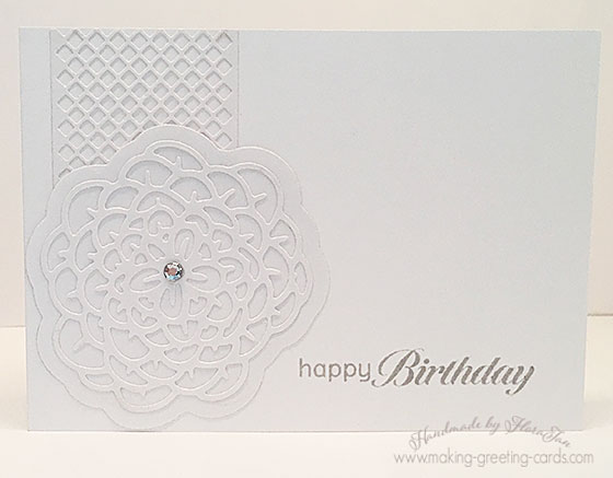 die-cut floral card