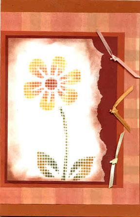 faux cross stitch card/Faux Cross Stitch Card