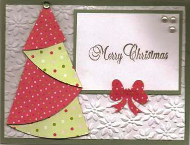 Bright Origami Christmas Tree Card - Template and ... - photo#34