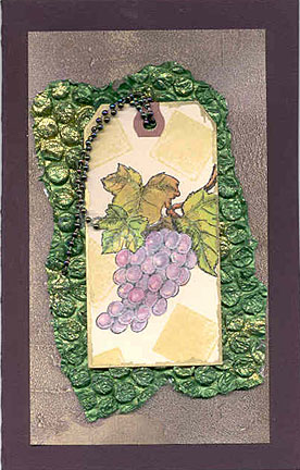 stamped grapes card/Handmade Card