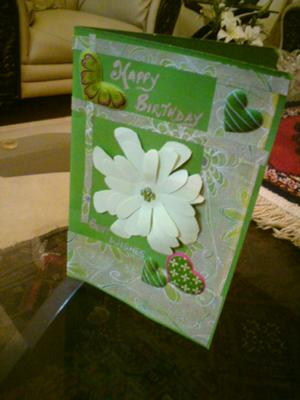 Green Birthday Card