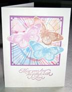 butterflies splash paint card