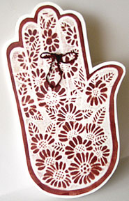henna hand tattoo card