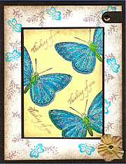 handmade butterfly cards