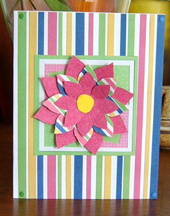floral handmade card