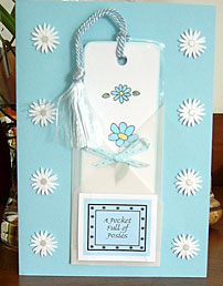pocket card with bookmark