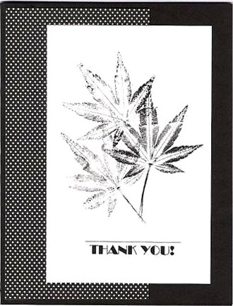 thank you card/Black & White Thank You Card
