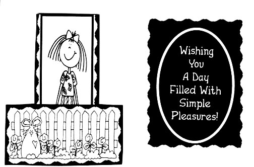 simple pleasures/Black & White Card Simple Pleasures