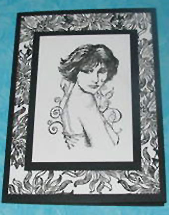portrait of a woman/Black and White Card - Portrait of a Woman