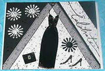 celebrate card/Black and White Celebrate Card