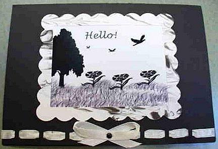 hello card/Black and White Hello