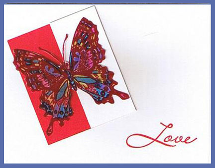 butterfly love valentine card