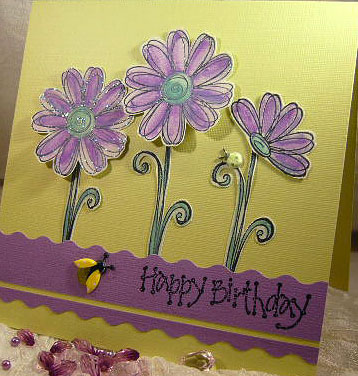 Striking Happy Birthday Card