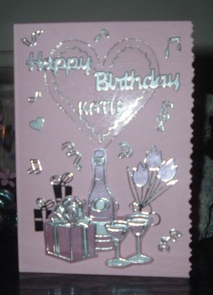 A Happy Birthday card for a friend created by Jeanette with stickers and
