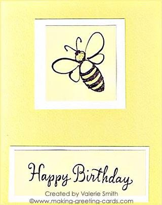 Bee Happy Birthday Card