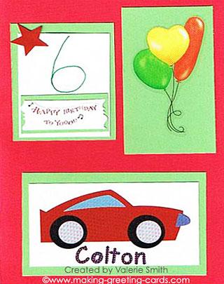 Colton's Birthday Card