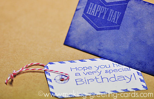 birthday note card/Happy Day Note Card With Envelope