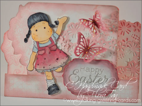 easter step card/Happy Easter Card