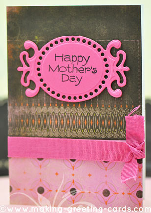 die cut card for mom/Happy Mother's Die Cut Card