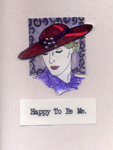 red hat card/Happy To Be Me