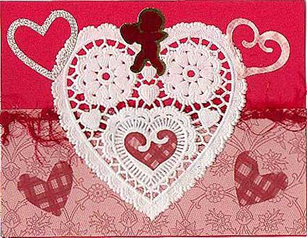 lace heart valentine card