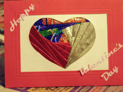iris folding valentines day card
