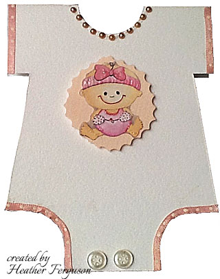 onesie baby card -cute baby