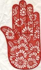 how a henna stencil looks like