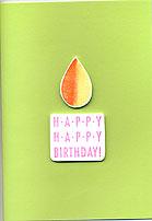 happy birthday card - japanese