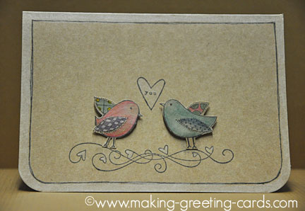 Making Greeting Cards - Love Birds