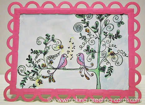Lovebirds Greeting Cards