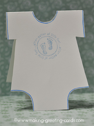 Onesie Baby Cards - Tutorial - Pattern - Onesie Template