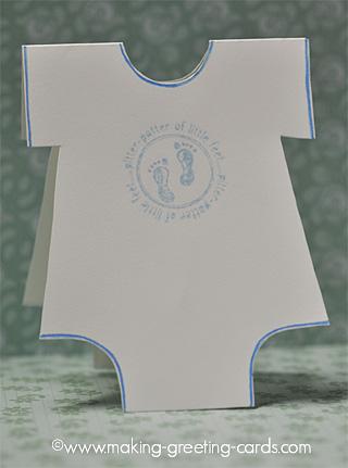 Onesie Baby Card - Baby Feet