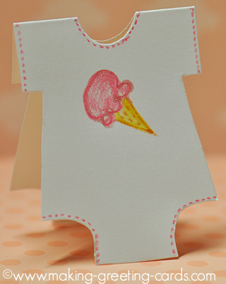 ice cream baby card
