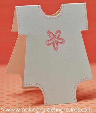 floral onesie card