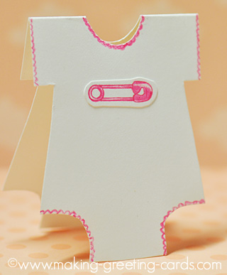 baby safety pin onesie