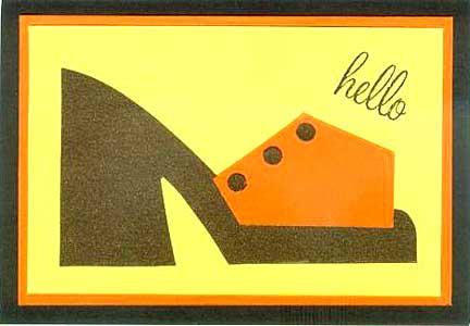 orange shoe card