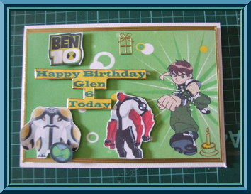 Birthday Card for Big Ben 10 Fan