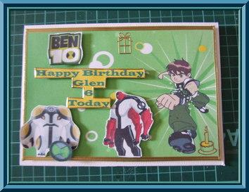 Birthday Card for Big Ben 10 Fan